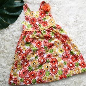 Toddler girl fruit dress